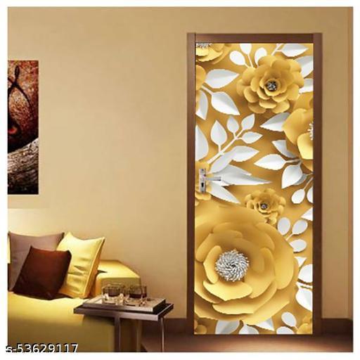 Vinyl Door Sticker Wallpaper for Door, Almirah, Table, Ac, Fridge Size 30x78 inch