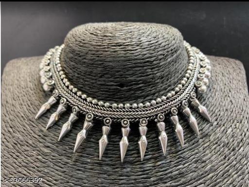 Peen Pike German Silver Necklace