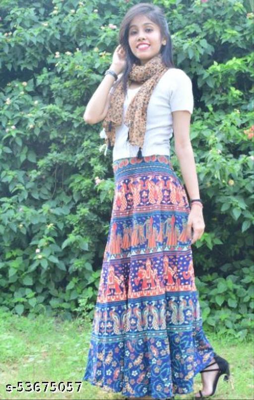 Printed modern Voguish Women Ethnic Skirts