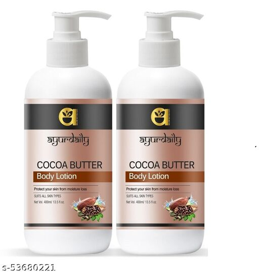 Ayurdaily Cocoa Butter Moisturizing Body Lotion For Replenish extra dry  400 ml (Pack of 2)