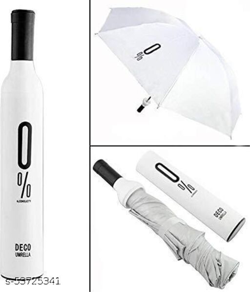 KSHITIJA SHOPPERS Double Layer Folding Portable Wine Bottle Umbrella with Bottle Cover for  Protection & Rain