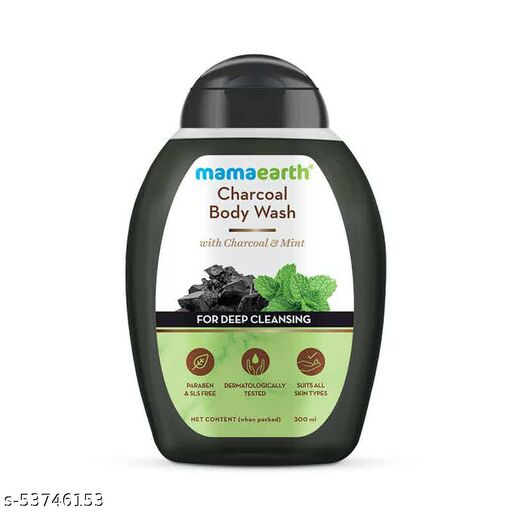 MamaEarth Charcoal Body Wash With Charcoal and Mint for Deep Cleansing - 300 ml