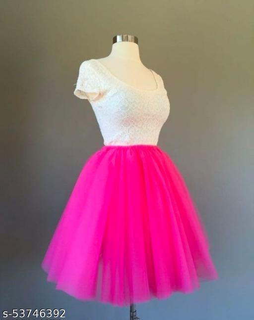 pink short skirt