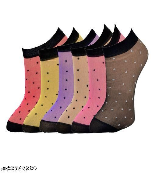 Polka Net Socks