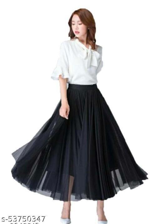balck long skirt