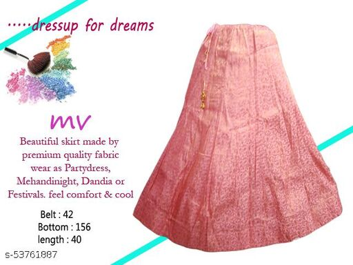 Ethinic Party Wear Skirt with Elasticated Band