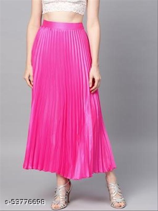 Western Looks Women Pleated Skirts