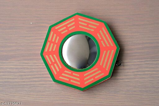 "REVASHREE CRAFT WORLD Feng-Shui 6"" Pakua Bagua Convex Mirror for Home & Office Main Door Entrance Protection, Positive Energy"