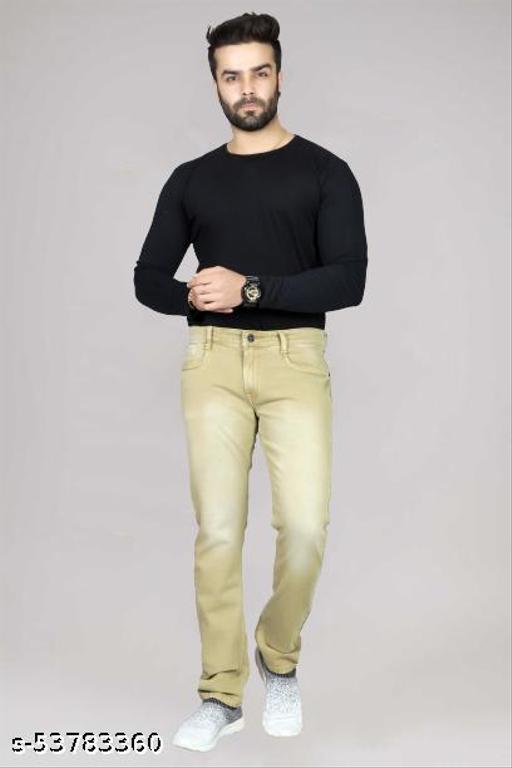 Men's khakhi jeans