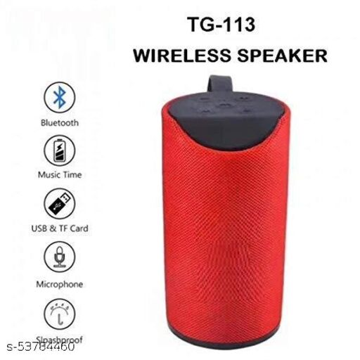 GB Power boost high sound blast with ultra 3d bass waterproof/splashproof mini dynamite thunder sound Wireless Bluetooth Speaker for car/laptop/home audio & gaming With usb/fm/tf card & line in aux supported 10 Bluetooth Speaker 9 W Bluetooth Speaker TG-113