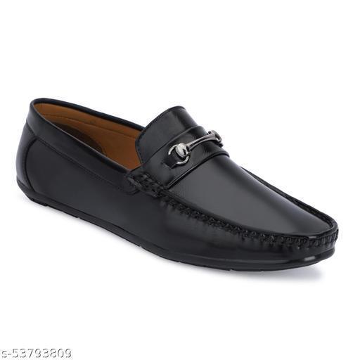 Adam Fit Black Loafer For Men