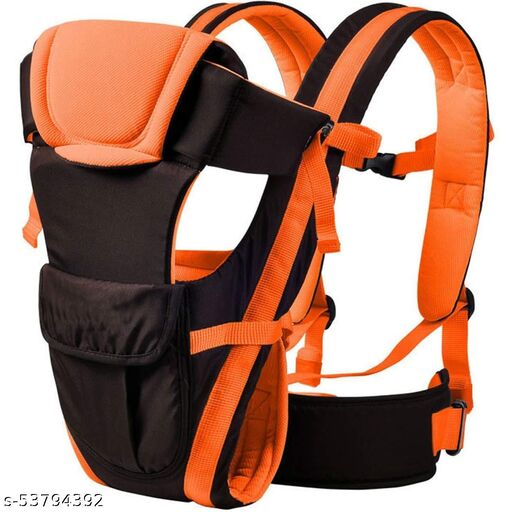 Mquare Adjustable Baby Carrier Cum Kangaroo Bag/Baby Carry Sling/Back/Front Carrier for Baby with Safety Belt and Buckle Straps (Orange Color , Front Carry facing in)