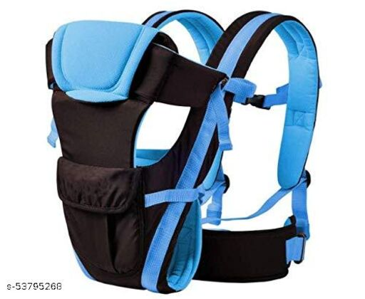Mquare Adjustable Baby Carrier Cum Kangaroo Bag/Baby Carry Sling/Back/Front Carrier for Baby with Safety Belt and Buckle Straps (Blue, Front Carry facing in)
