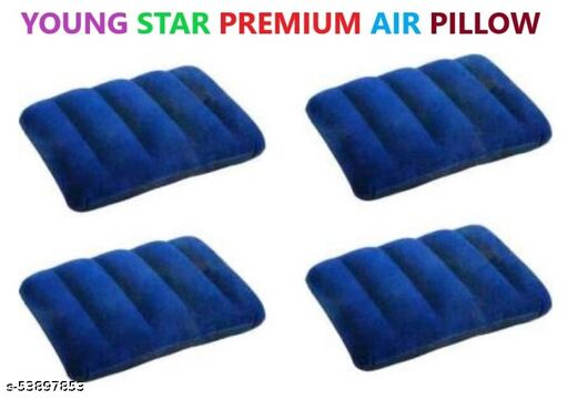 YOUNG STAR PREMIUM QUALITY 4 AIR PILLOW ,EASY TO FILL AIR FROM MOUTH AND FOLDABLE.