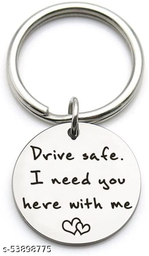 Drive Safe I Need You Here With Me, New Driver Gift for Her or Him, Trucker Husband Boyfriend Keychain Gifts