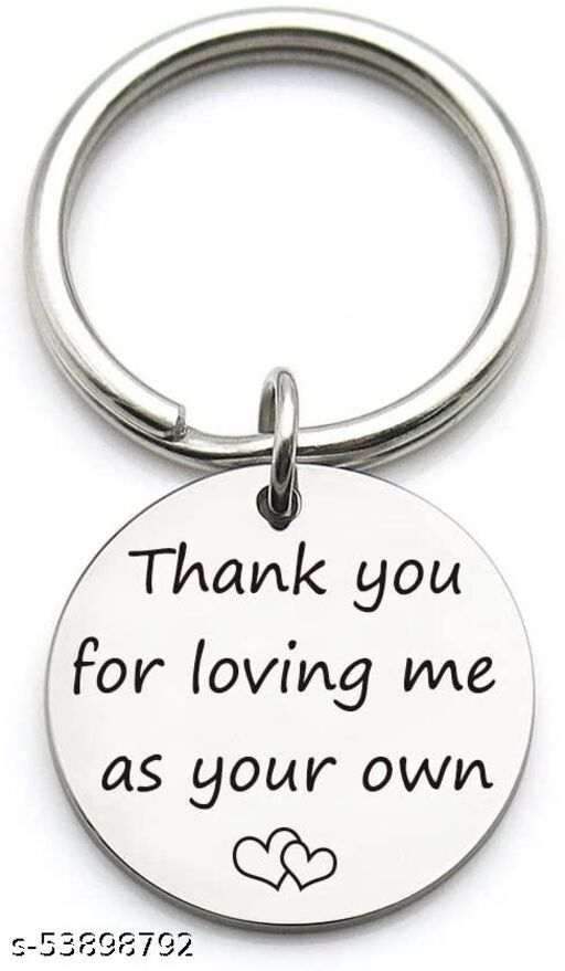 Thank You for Loving Me as Your Own Keychain, Mother Father Stepmom Stepdad Key Ring Gift, Gifts for Dad Mom from Son Daughter