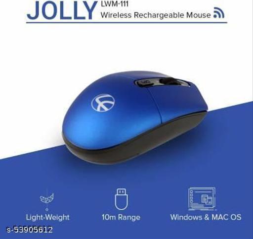 LAPCARE LKWOLB6926 Jolly LMW-111 Wireless Optical Mouse  (USB 3.0, Blue)