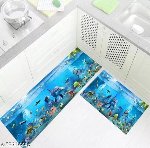 AARUSHI HANDLOOM Kitchen mat for Floor Waterproof & Anti Slip Floor Mat & Runner (40*120,40*60)