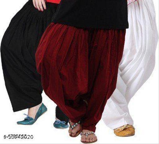 Women's Patiala Salwar Free Size Set of 3