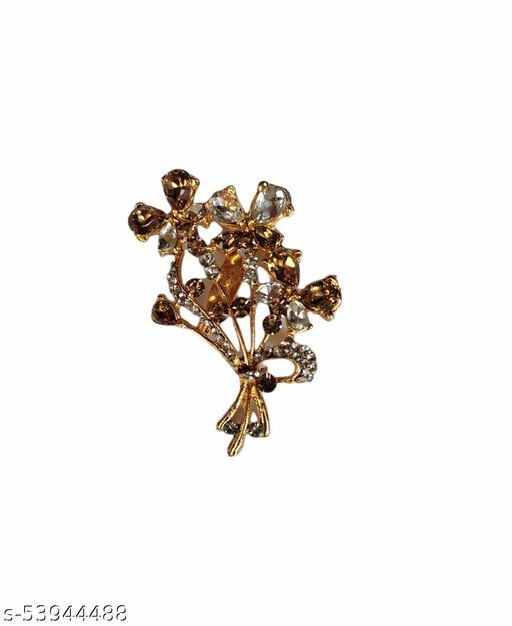 Radler Fashions Designer Saree Pins Stylish Floral Brooches for Women