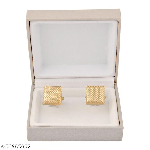 cufflinks button gold square shaped for man's