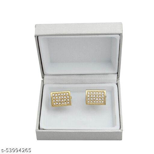 cufflinks gold with diamond for man's