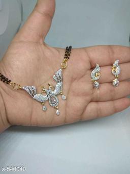 American Diamond and Alluring Metal Mangalsutra Set