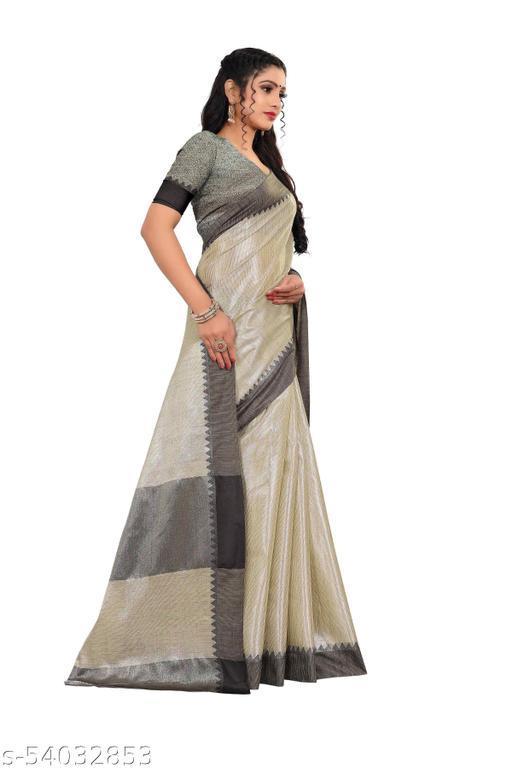 designer Aura checks cotton saree with running blouse