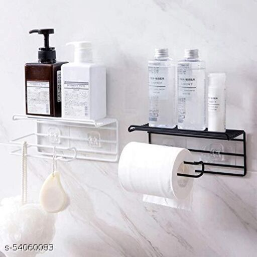 bathroom tissue holder with storage shelf 1 pcs