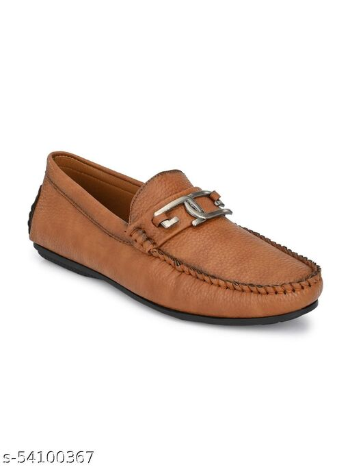 Guava Men's Driving Loafers Shoes - Tan