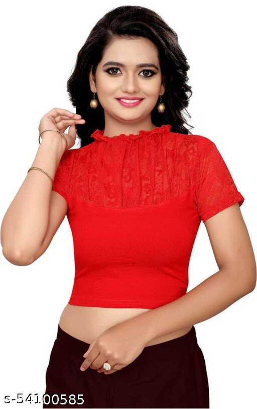 RED COLOR STRETCHABLE BLOUSE