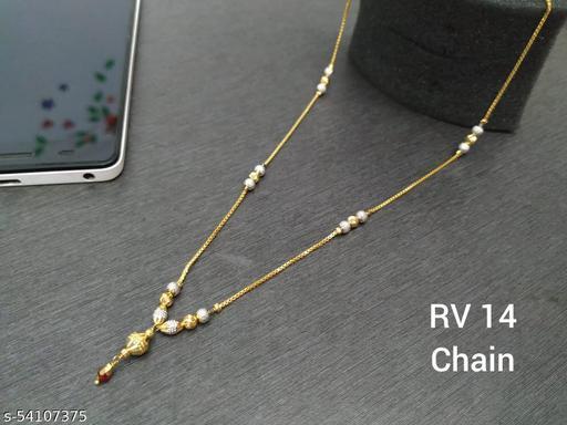Silver Golden Chain 18inch