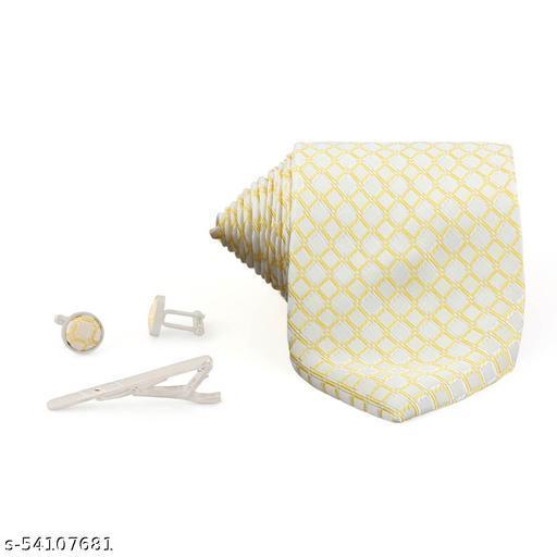 Necktie Formal casual Jacquard Cufflinks Tie Pin Pocket Square Combo Set For Men's Formal Premium Set