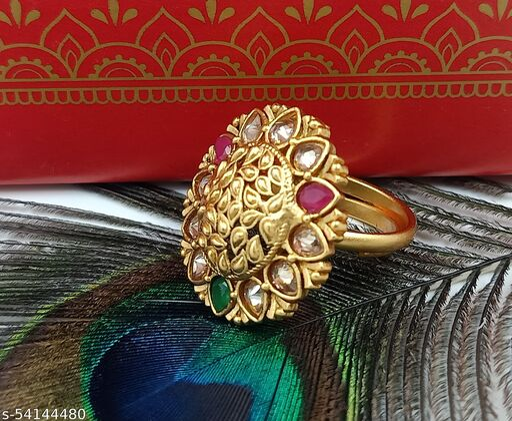 ORIGINAL BRASS PREMIUM QUALITY RING WITH RAJWADI MATTE FINISHING