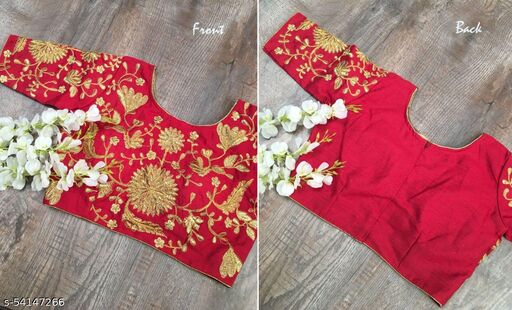 Fully Stitched Embroidered Blouse
