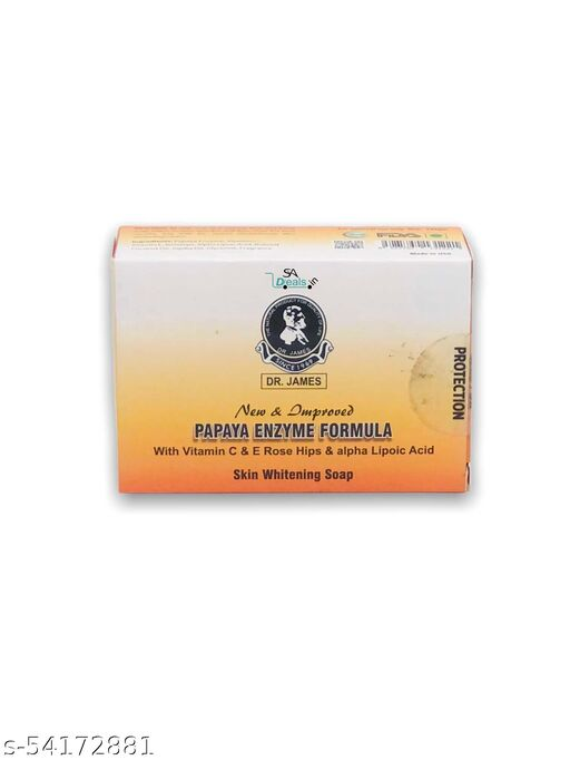 Dr james new and improved papaya enzyme formula skin whitening Soap 135g