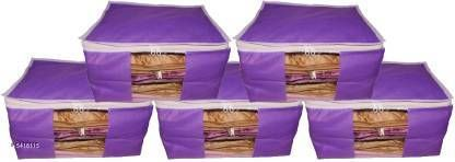 Apparel Storage  Classic Trendy Organisers & Storage Combo Material: Non - Woven  Size(L X B X H) : 42 cm x 35 cm x25  cm  Description:  It Has 5 Pieces Of Saree Cover Pattern : Solid Sizes Available: Free Size    Catalog Name:  Classic Trendy Organisers & Storage Vol 18 CatalogID_807443 C131-SC1628 Code: 292-5418115-