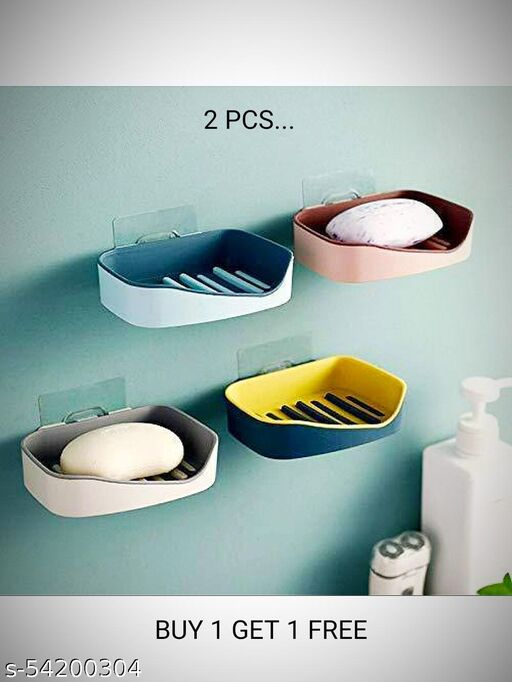 Soap Holder With Sticker And Soap Dish