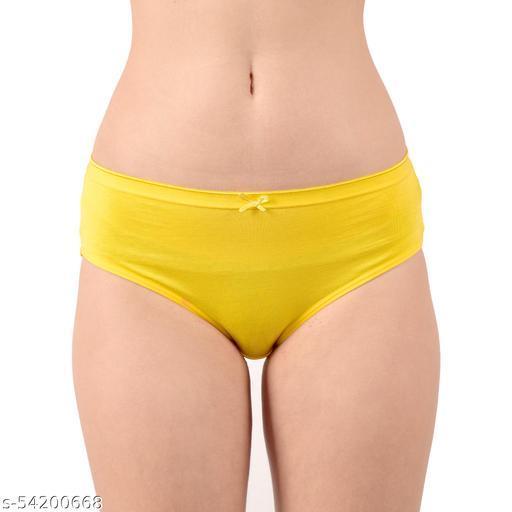 Dido Solid Low Rice Coton / Bikini Panty Yellow