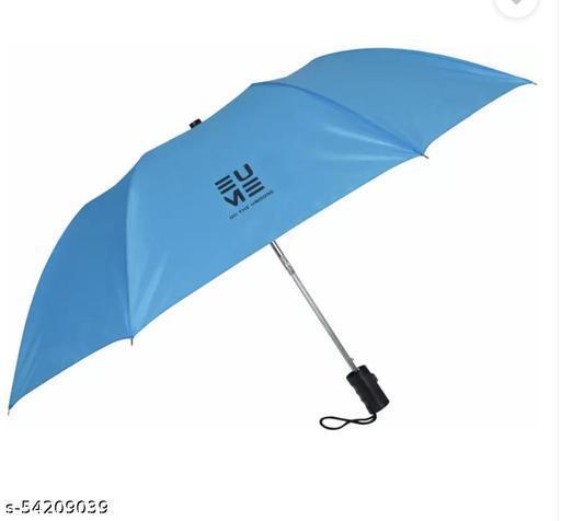 EUME Leatrix 21 Inch 2 Fold Auto-Open Umbrella  (Blue)