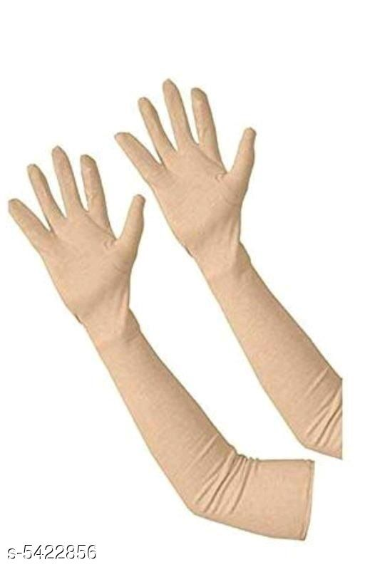 Stylish Cotton Unisex Long Gloves