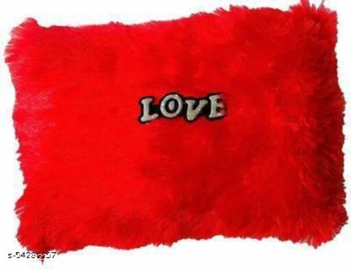 CMS Crop Square red soft pillow - 12 cm  (Red)