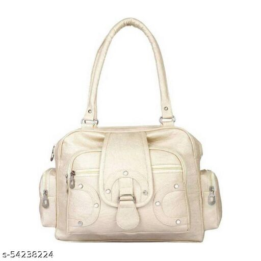 White color Exclusive and Stylish Handbag for Girls for Teachers / College / Fund / Study / Office use