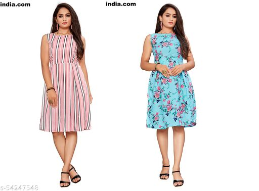 GUNGRAHAK FIT AND FLARE WESTERN WEAR DRESSES
