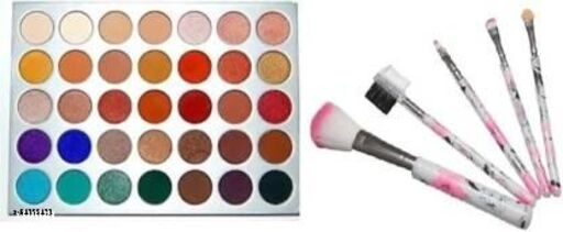 Jaklin Eyeshadow the Hill Palette 70.5 g + 5 pc brush set ( set of 6 )  (6 Items in the set)