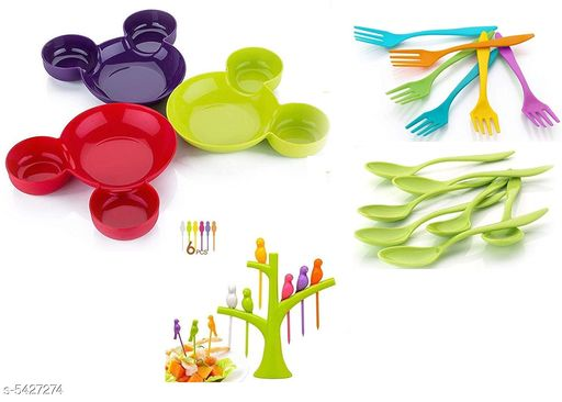 Urban Micky Plates, Spoons & Fork