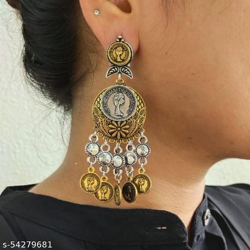 Duel tone oxidized Earrings