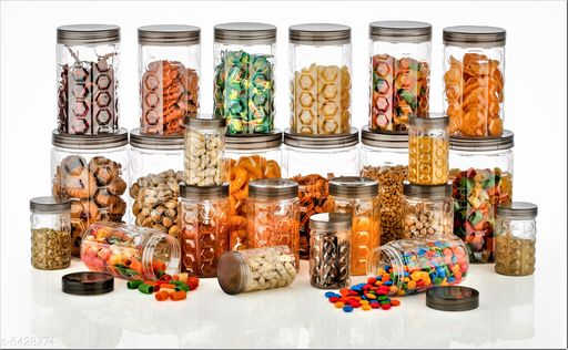 Dream Home Trendy Plastic Jars & Containers Combo