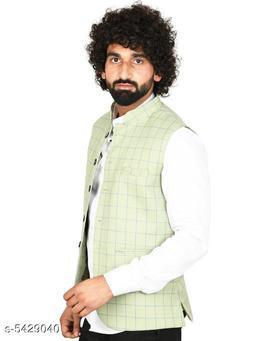 Stylish Silk Blend Men's Nehru Jacket