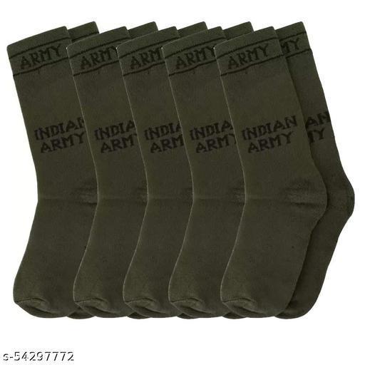ARMY SOCK PACK OF 5 MEHANDI COLOR